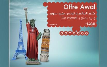 Offre Awal de Ooredoo: Le local et l'international au même prix