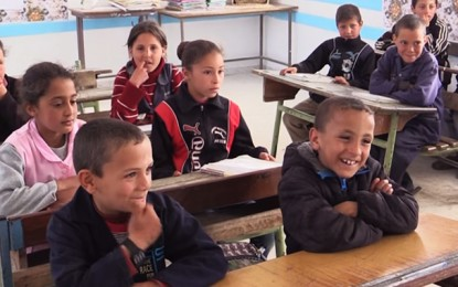 L'Unicef lance un programme de réhabilitation de 34 écoles en Tunisie