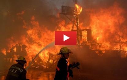 Philippines: Gigantesque incendie dans la ville de Quezon City