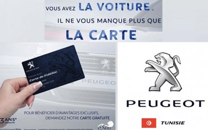Auto : Stafim lance la carte de fidélité Peugeot