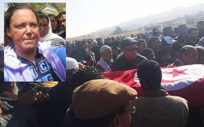 La militante Jomaa Jalabi Hajji accompagnée à sa dernière demeure