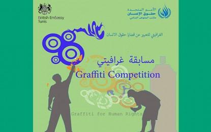 Droits de l'Homme : Compétition de graffiti et de calligraphie