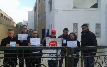 Sit-in de journalistes devant la chaine El-Hiwar Ettounsi