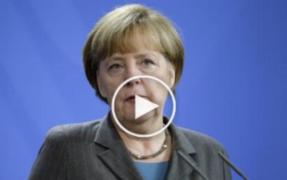 A. Merkel: «Agissons ensemble pour vaincre le terrorisme»!