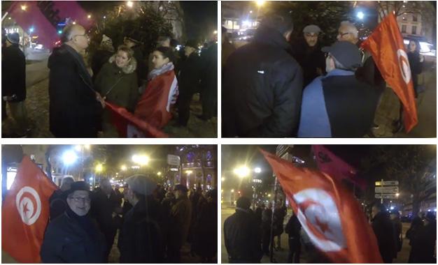 FTCR- Rassemblement Paris soutien Tunisie