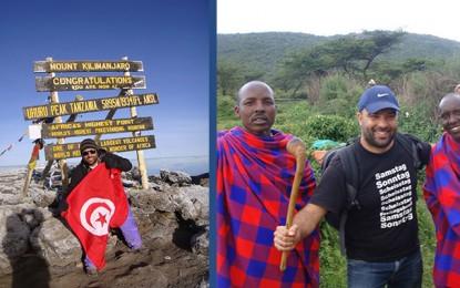 Le drapeau tunisien au sommet du Kilimandjaro
