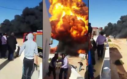 Ben Guerdane : Plus de 2000 litres de carburant ravagés par le feu