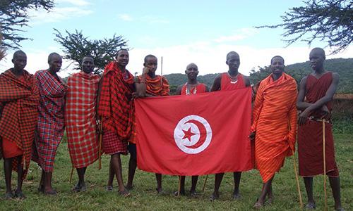 Kenya Maassai drapeau Tunisien ok