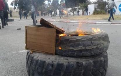 Kasserine: Heurts entre jeunes et forces de l'ordre