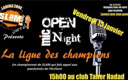 Championnat de Slam au Club Tahar Haddad