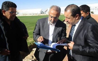 La CAF satisfaite de l'avancement des travaux au Stade de Gabès