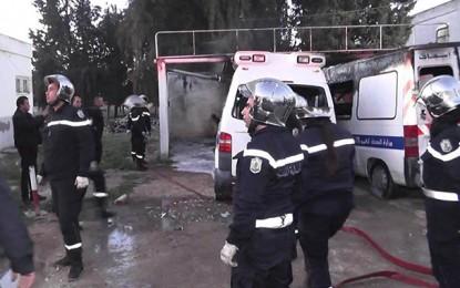 Jendouba : Incendie au parking de l'hôpital régional