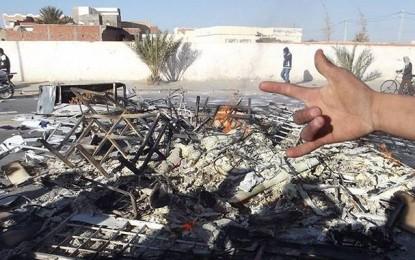 Kébili : Le poste de police de Souk Lahad incendié