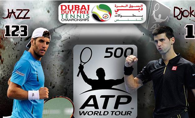 Tennis : Jaziri face au N°1 mondial Djokovic Jaziri-Djokovic-Dubai