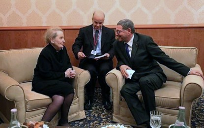 Madeleine Albright en visite en Tunisie