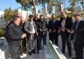 Mohsen Marzouk se recueille sur la tombe de Chokri Belaïd
