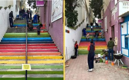 Radès : Des jeunes donnent des couleurs au quartier de Mongil