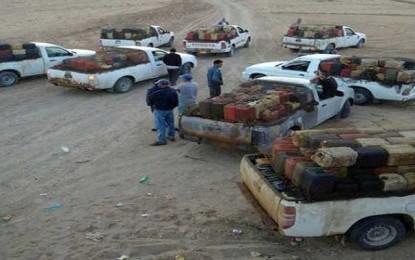 Remada : Arrestation de 7 contrebandiers et saisie de 60.000 litres de carburant