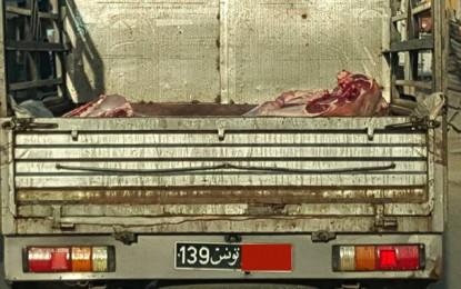 Moknine : Un transporteur de viande dans le collimateur des habitants
