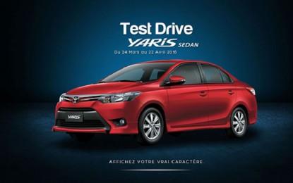 BSB propose à ses clients de tester la Toyota Yaris Sedan