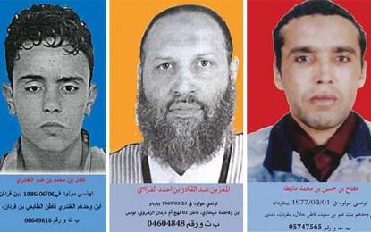 Avis de recherche de 3 dangereux terroristes