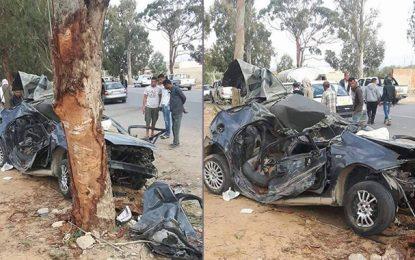 Kairouan : Partis faire des courses pour un mariage, ils meurent dans un accident