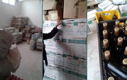 Ben Arous : Saisie de milliers de litres de boissons dans un entrepôt non autorisé