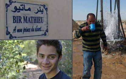 Bir Mathieu fait jaillir l'eau dans le désert tunisien