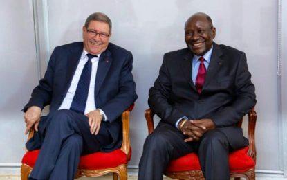 Habib Essid à Abidjan pour impulser la coopération tuniso-ivoirienne