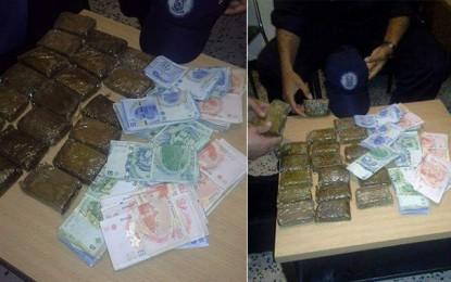 Jendouba : Arrestation d'un Algérien trafiquant de cannabis