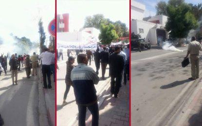 Kef : Gaz lacrymogène pour disperser une manifestation contre Essid