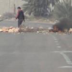Kerkennah-Route bloquée