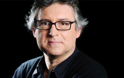 Le philosophe français Michel Onfray à Tunis le 29 avril