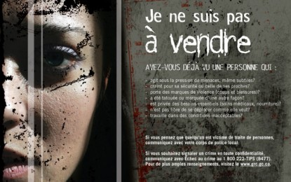 «Pas à vendre» : Une campagne contre la traite des personnes