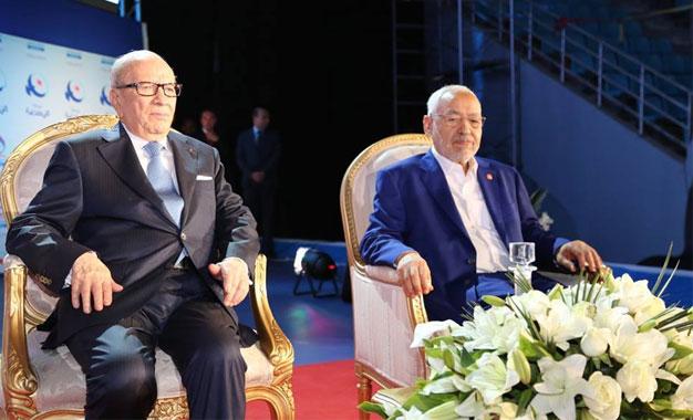 10e-Congres-Ennahdha-Caid-Essebsi-Ghannouchi