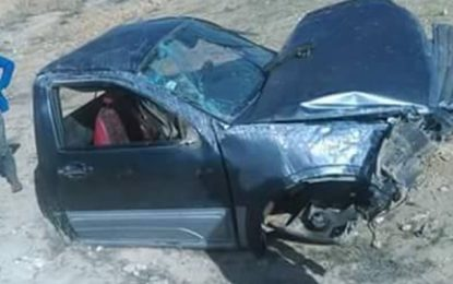 Gafsa : Mort de 4 membres d'une famille dans un accident