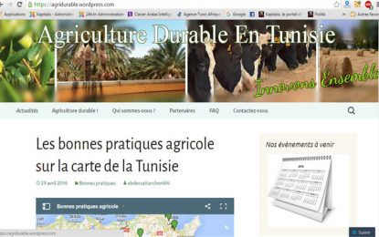Agridurable : Un site web dédié à l'agriculture durable en Tunisie