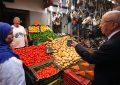 Tunis : Béji Caïd Essebsi au marché Bab El-Falla