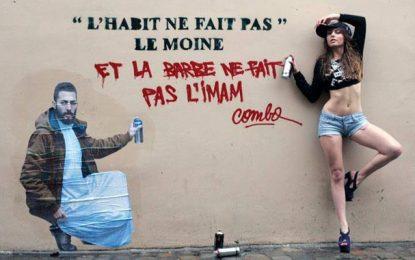Street Art : Performance du français Combo à la 3e expo Talan