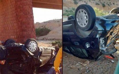 Gabès : 7 blessés dans une voiture tombée par-dessus un pont