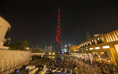Lancement spectaculaire du Jaguar F-PACE au Burj Khalifa de Dubaï
