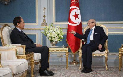 Gouvernement d'union nationale : Khelil, Zbidi et Zouari reçus par Caïd Essebsi
