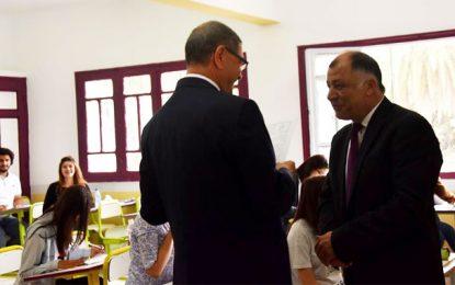 1er jour du Bac : Essid et Jalloul au lycée Kheireddine à l'Ariana