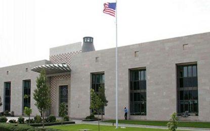 Vendredi, opération sécuritaire blanche à l'ambassade des Etats-Unis à Tunis