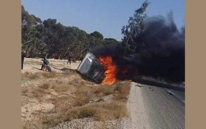Gabès : Sortis miraculeusement de leur véhicule en feu