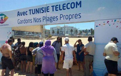 Tunisie Telecom poursuit sa campagne pour des plages propres
