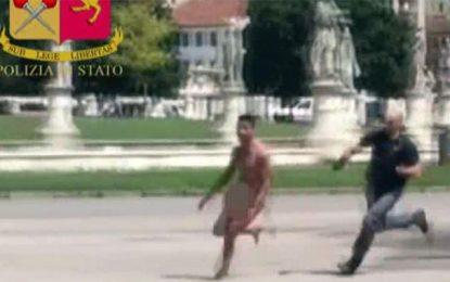 Italie : Un Tunisien se met nu et crie «La Alaha Illa Allah»