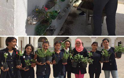 Siliana : Des élèves de Makthar fleurissent leur école