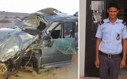 Tozeur : Un policier mort et un autre blessé dans un accident