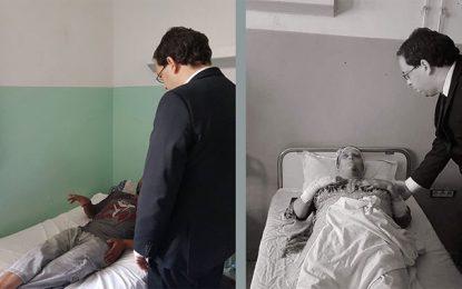 Kasserine: Youssef Chahed au chevet des blessés